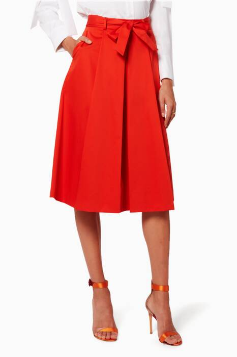 Red Bow Belt Skirt