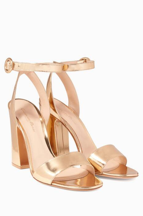 Gold Metallic Portofino Leather Sandals