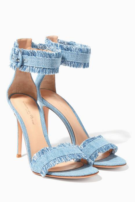 Blue Lola Denim Sandals