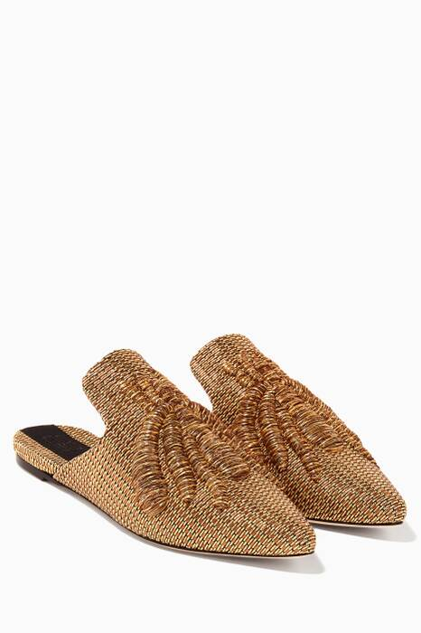 Gold Ragno Slippers