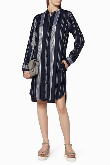 Navy Striped Bianca Dress