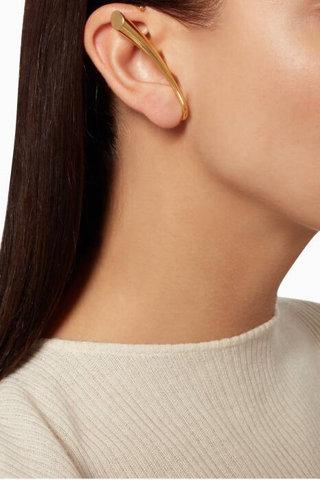 Yellow-Gold Calla Earring