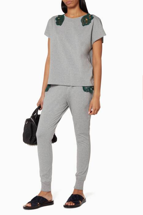 Grey Lace Pocket Trackpants