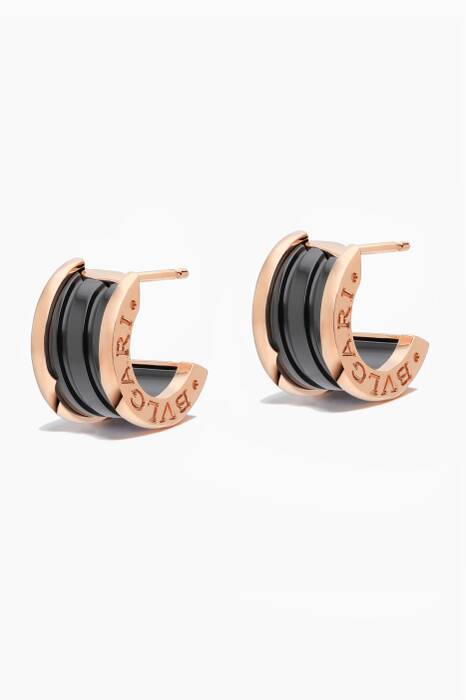 Rose-Gold & Black Ceramic B.zero1 Earrings