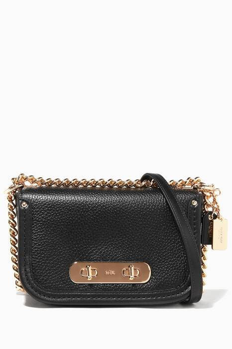 Black Swagger Shoulder Bag 20