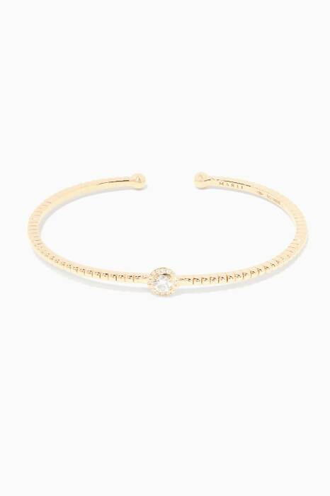 Yellow-Gold And Diamond Rock Candy Bangle