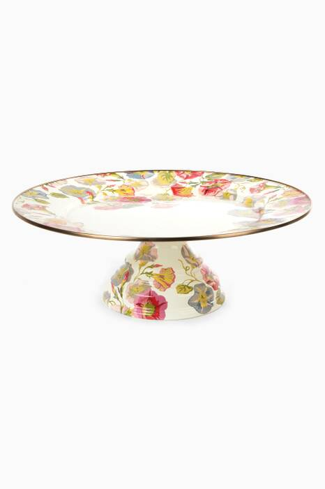 Morning Glory Pedestal Platter