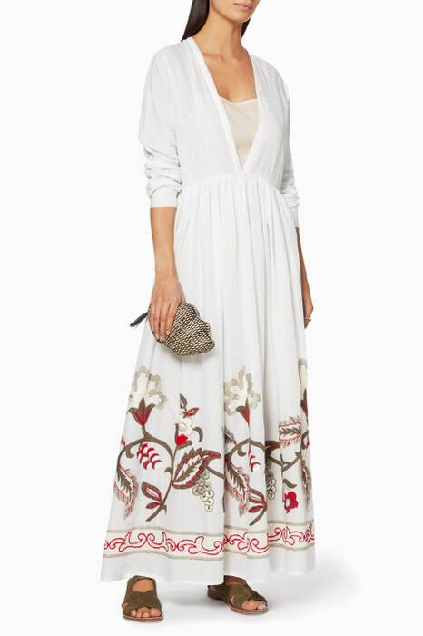 White Sea Antille Embroidered Hem Dress
