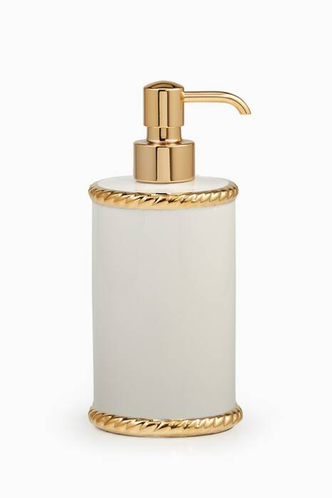 White & Gold Rope Lotion Dispenser
