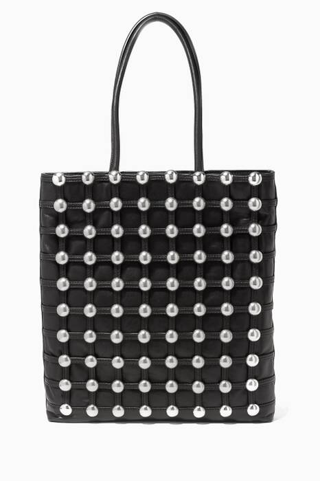 Black Dome Stud Cage Shopper