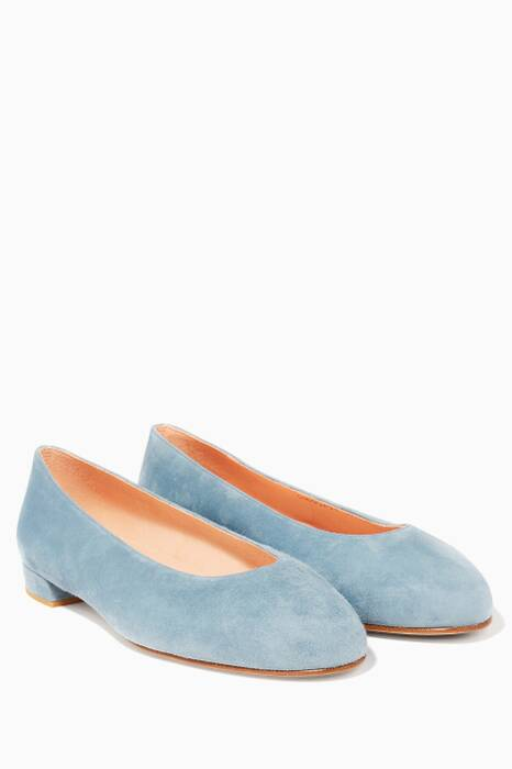 Light Pastel Kirov Chicflat Suede Ballerinas