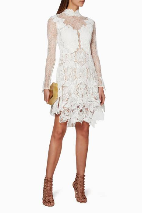 White Corded Lace Dress