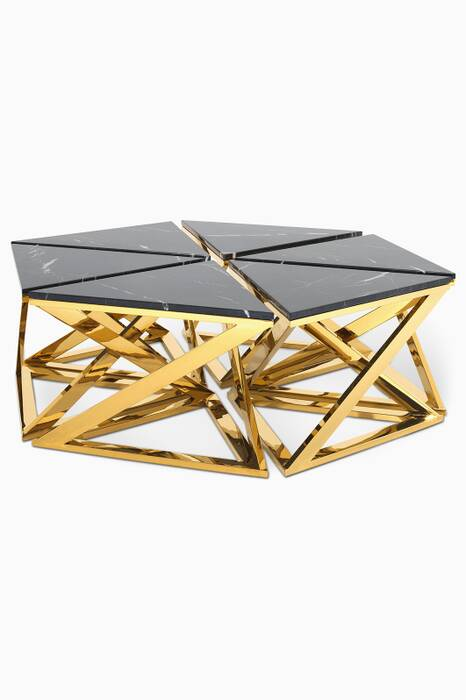 Gold And Marble Galaxy Set Of Six Side Tables