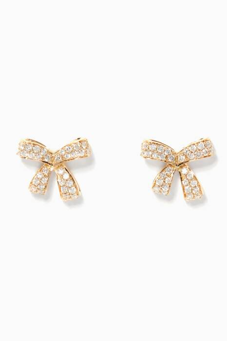 Yellow-Gold Diamond Romance Earrings