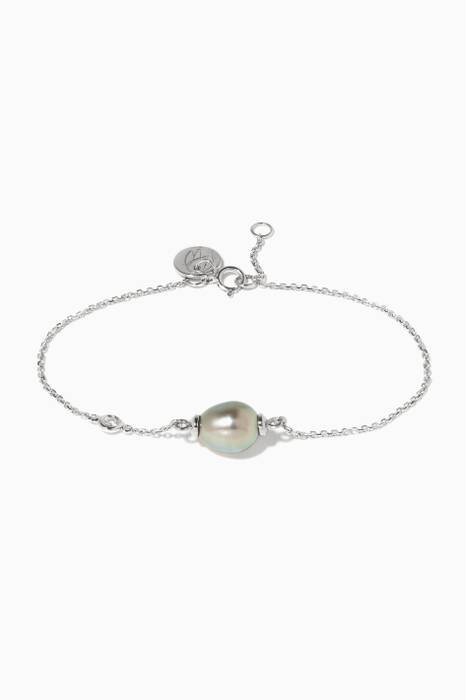 White-Gold My First Pearl Bracelet