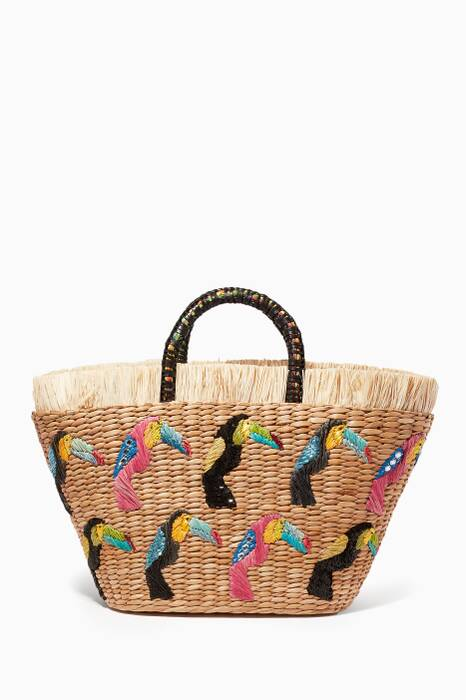 Multi-coloured Dyed Water Hyacinth Tote Bag
