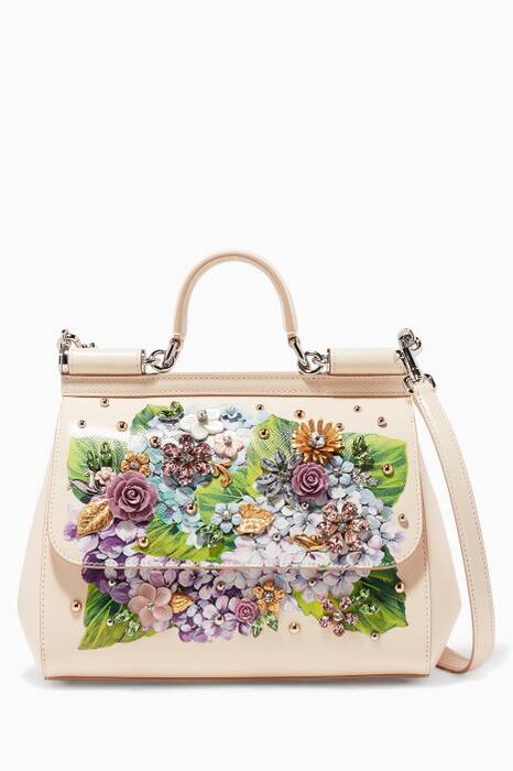 Blush Floral Ortensia Miss Sicily Bag