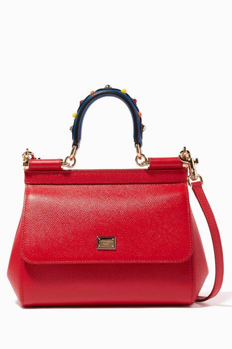 Red Small Dauphine Leather Miss Sicily Bag