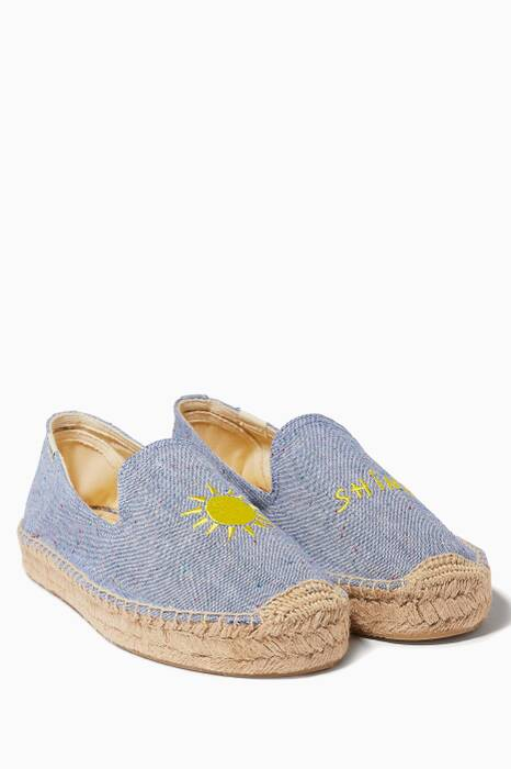 Nautical-Blue Mary Matson Sunshine Embroidered Platforms