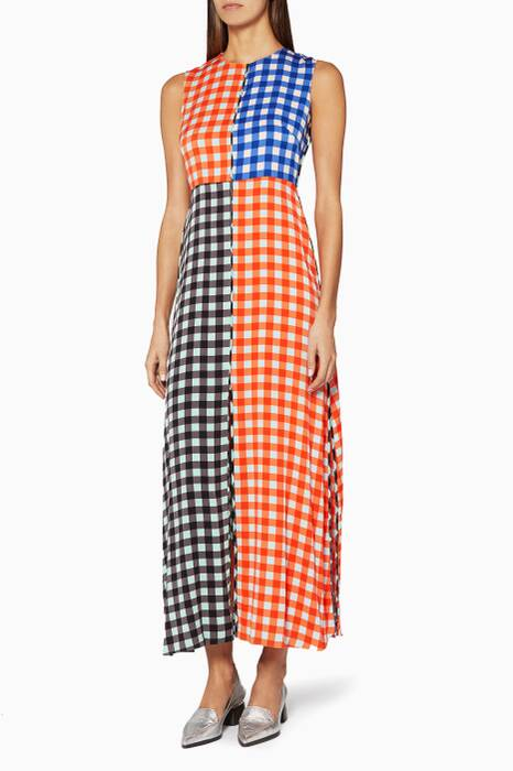 Cossier-Print Contrasting Dress