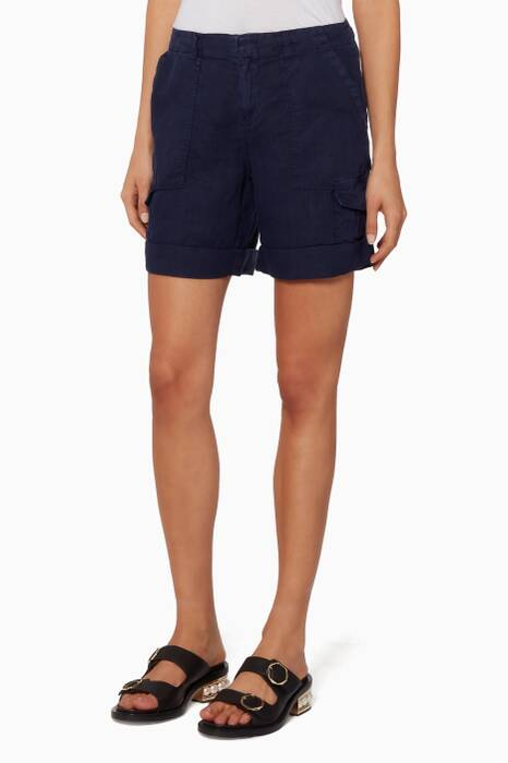 Navy Aubeline Shorts
