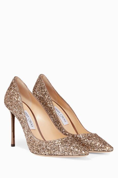 Gold Romy Glittered Pumps