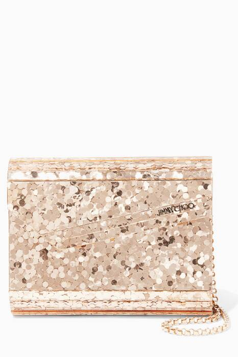 Gold Candy Metallic Acrylic Clutch Bag
