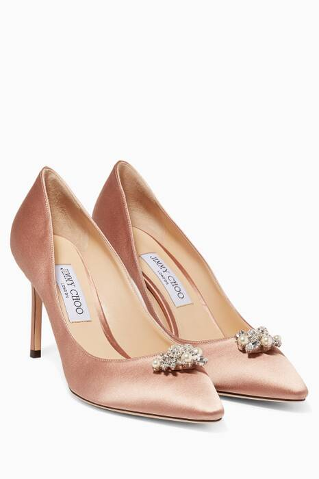 Ballet Pink Alexa Satin Pumps