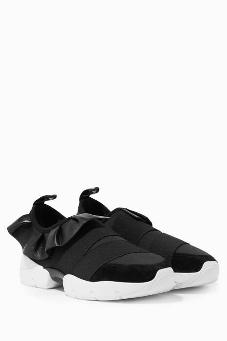 Black City One Frill Sneakers