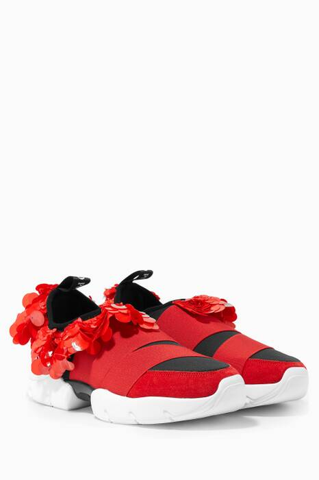 Red City One Frill Sneakers