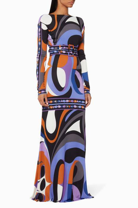 Printed Maschere Archive Gown