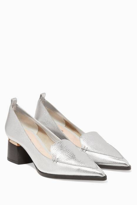 Metallic Silver Beya Pumps