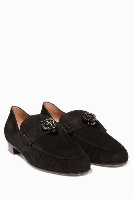 Black Panther Suede Loafers