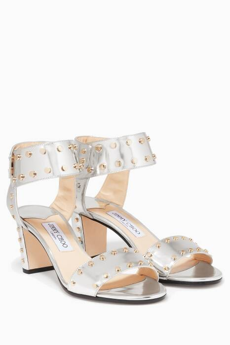 Silver Mirror Veto  Leather Sandals