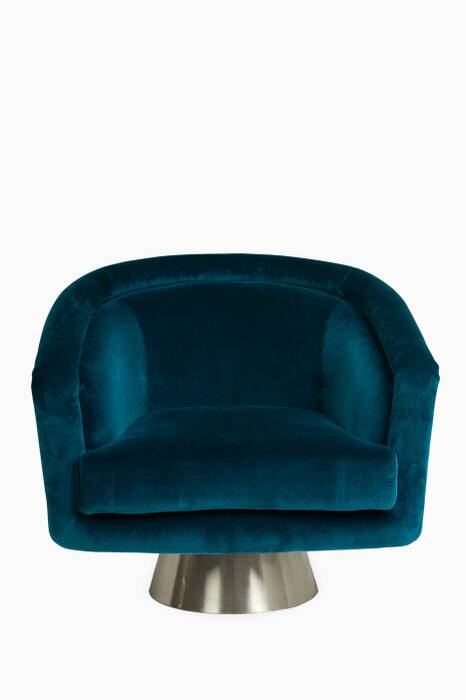 Blue Rialto Reef Bacharach Swivel Chair