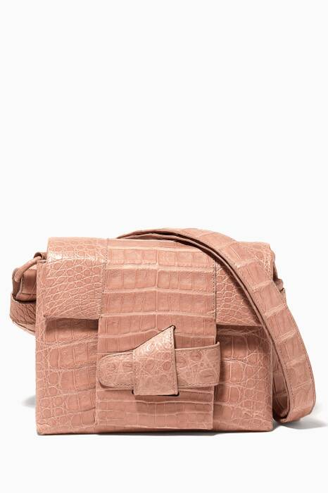 Beige Oragami Shoulder Bag