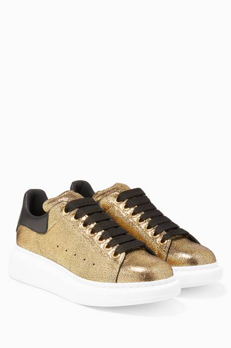 Metallic Gold Classic Larry Oversized Sneakers