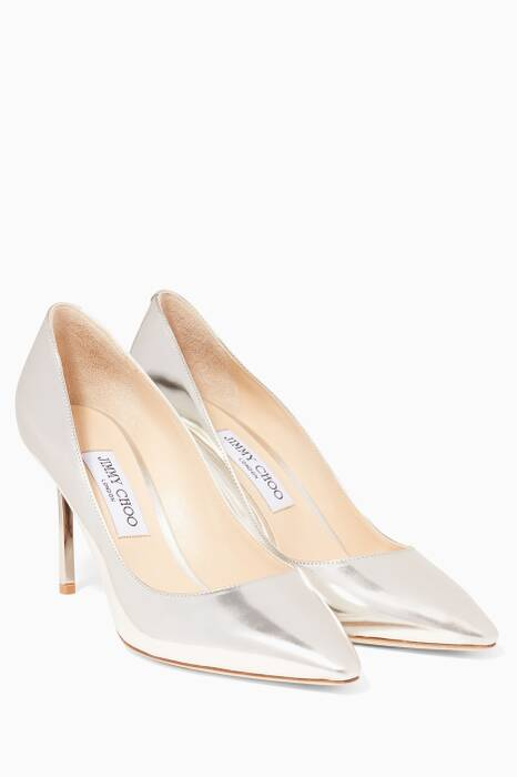 Silver Romy Metallic Pumps