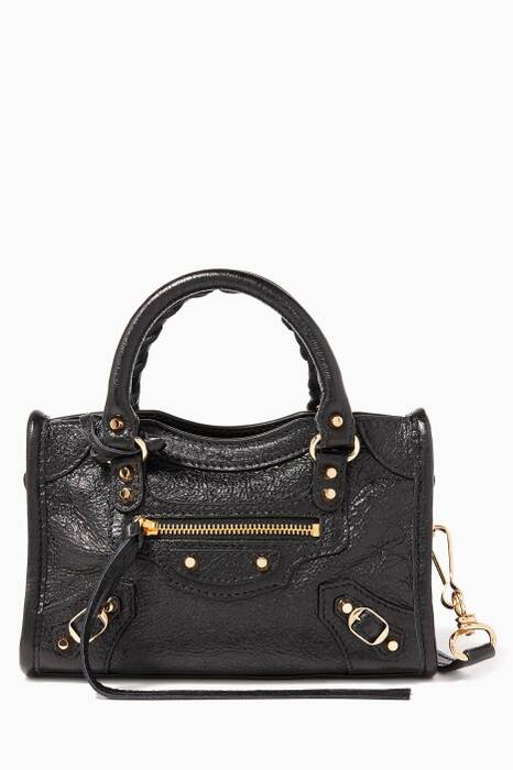 Black Nano Classic City Cross-Body Bag