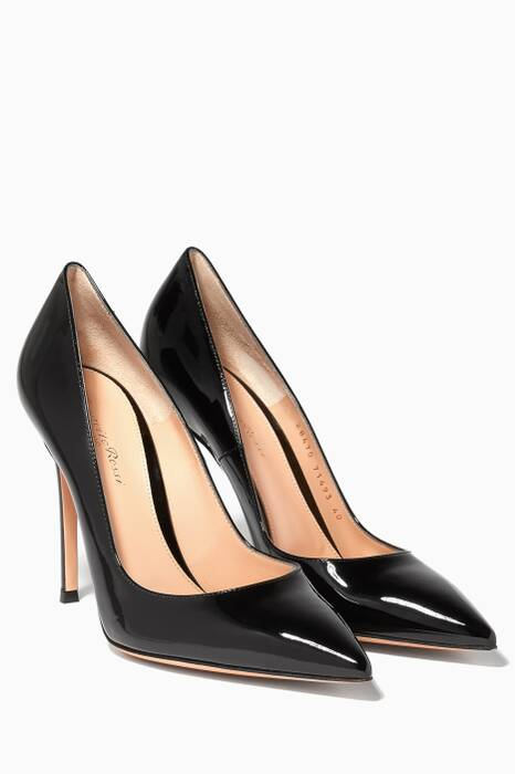 Black Gianvito Patent Pumps