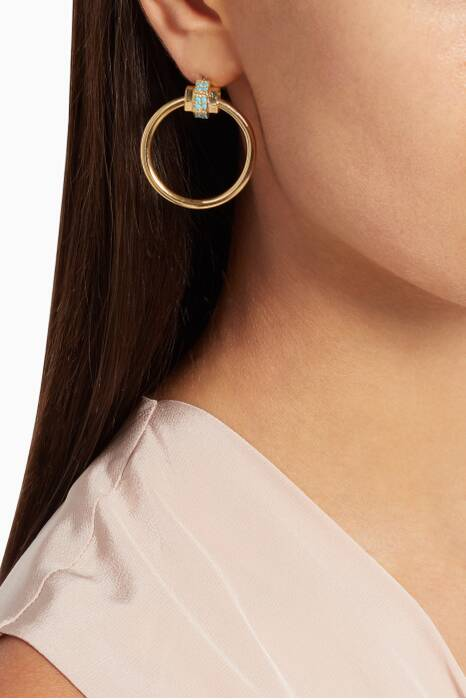 Gold Nut Hoop Earrings