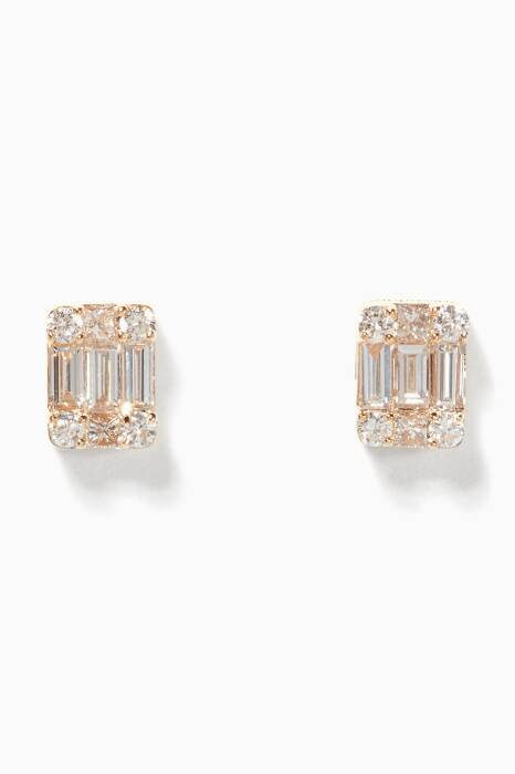 Yellow-Gold Diamond Earring