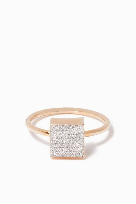 Rose-Gold & Diamond Ever Square Ring