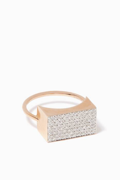 Rose-Gold & Diamond Ever Rectangle Ring