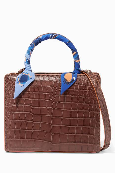 Walnut Crocodile Sweet Box Bag