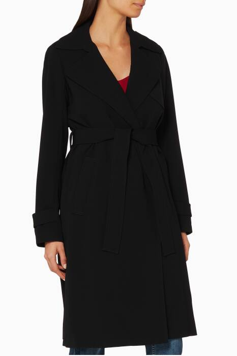 Black Oaklane Trench Coat