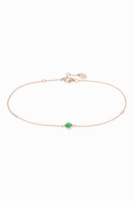 Rose-Gold Jade Anklet