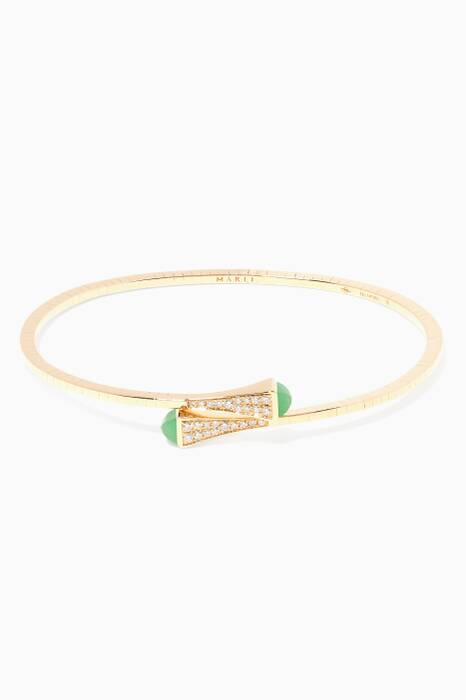 Yellow-Gold, Diamond & Jade Medium Cleo Bracelet
