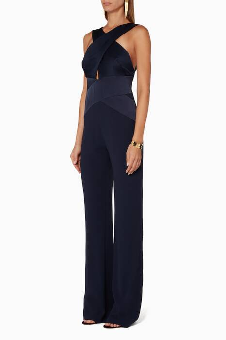 Dark-Blue Flyover Jumpsuit