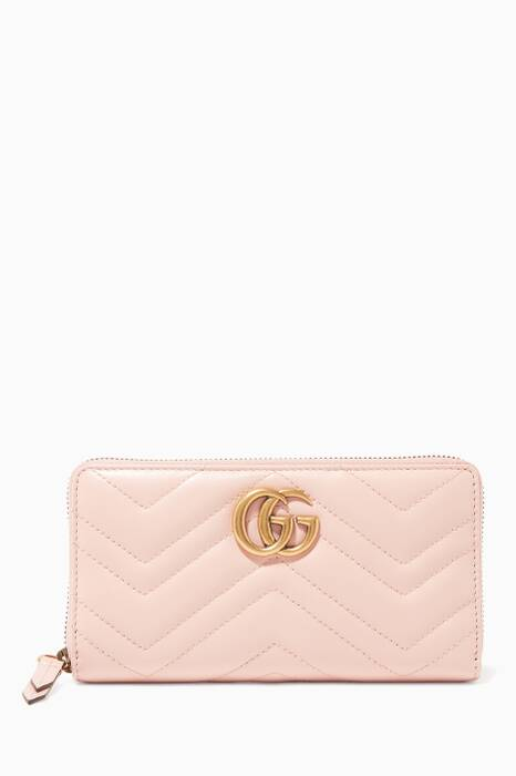 Pastel-Pink GG Marmont Wallet
